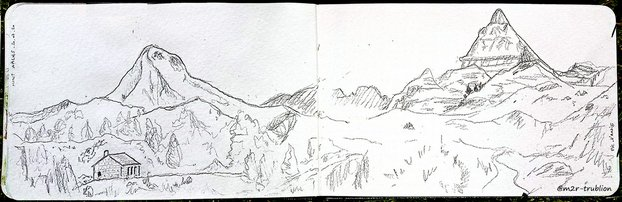Illustration panoramique du Pic d